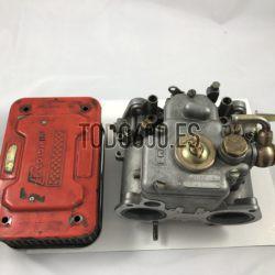 12 . Carburador weber 38 DCOE doble cuerpo con filtro, funciona correctamente. Precio 200 eur