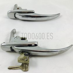 Kit manillas de puerta seat 600 E tirador ( primera serie, año 70 , 71)